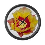 Prickly Pear Flower Large Wall Clock