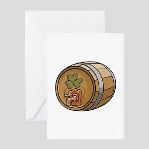 Saint Patrick's Day Barrel Greeting Card