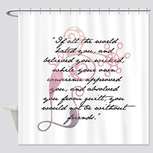 Jane Eyre Quote Shower Curtain