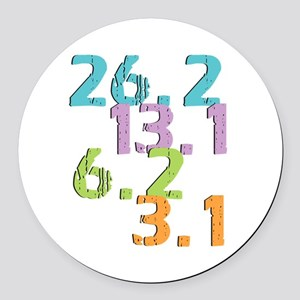 runner distances Round Car Magnet