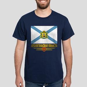 Arkhangelsk Oblast Flag Dark T-Shirt