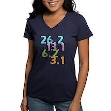 runner distances Women's V-Neck Dark T-Shirt