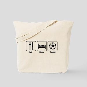 Eat Sleep Soccer BLK.png Tote Bag