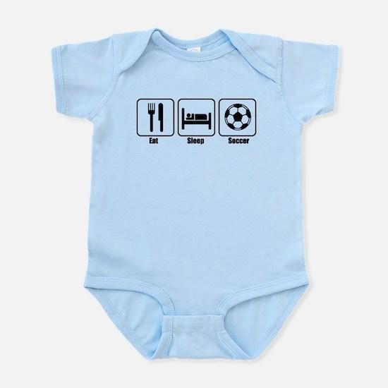 Eat Sleep Soccer BLK.png Infant Bodysuit