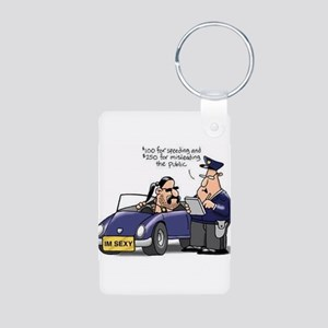but officer Aluminum Photo Keychain