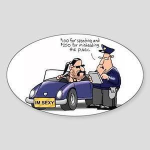but officer Sticker (Oval)