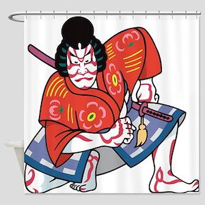 Kabuki Actor Shower Curtain