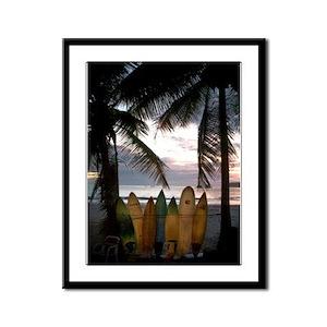 Surf Costa Rica Framed Panel Print