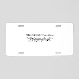 artificial un intelligence Aluminum License Plate