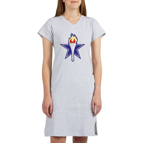Star and Torch Women's Nightshirt