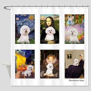 Famous Art Bichon (clr) Shower Curtain