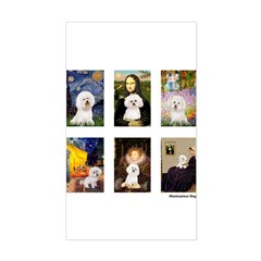 Famous Art Bichon (clr) Sticker (Rectangle)