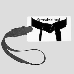Congratulations Black Belt Large Luggage Tag