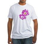 2 Pink Cactus Flowers Fitted T-Shirt