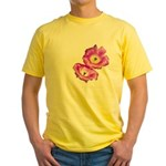 2 Pink Cactus Flowers Yellow T-Shirt