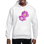 2 Pink Cactus Flowers Hooded Sweatshirt
