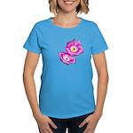 2 Pink Cactus Flowers Women's Dark T-Shirt
