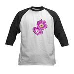 2 Pink Cactus Flowers Kids Baseball Jersey