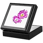 2 Pink Cactus Flowers Keepsake Box