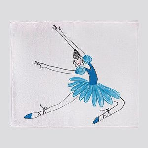 Blue Ballerina Throw Blanket