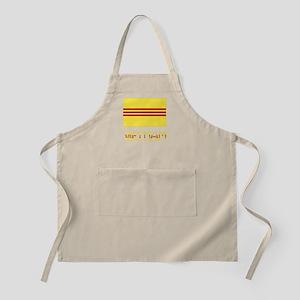 S. Vietnam Flag & Name Apron