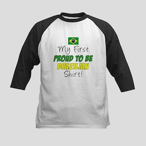 First Proud To Be Brazilian Kids Baseball Jersey