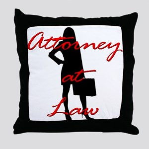 Attorney at Law Throw Pillow