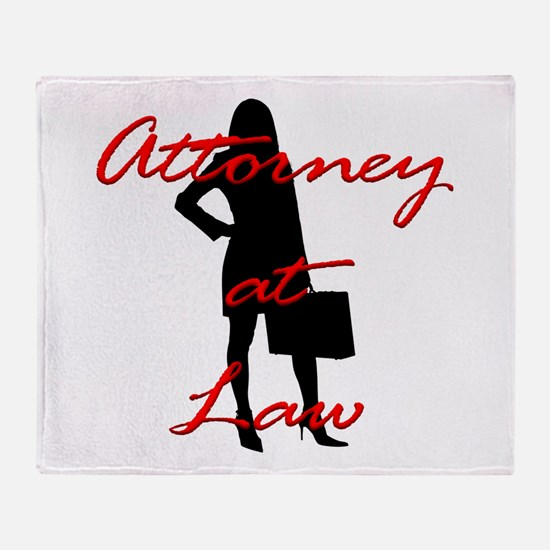 Attorney at Law Throw Blanket