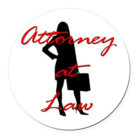 Attorney at Law Round Car Magnet