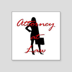 "Attorney at Law Square Sticker 3"" x 3"""