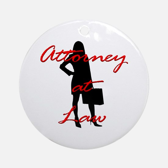 Attorney at Law Ornament (Round)