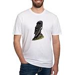 Moai Head Ear Buds 1 Fitted T-Shirt