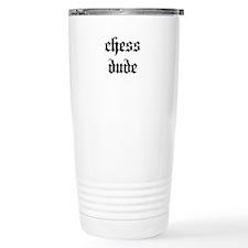 Chess Dude Stainless Steel Travel Mug