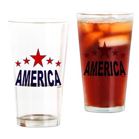 America Drinking Glass