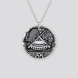American Samoa Coat Of Arms Necklace Circle Charm