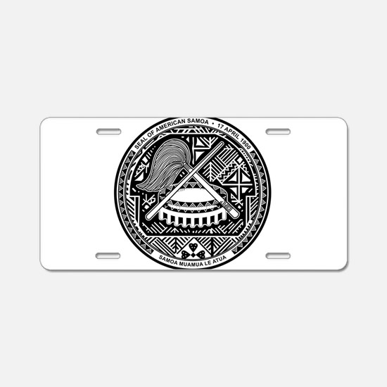 American Samoa Coat Of Arms Aluminum License Plate