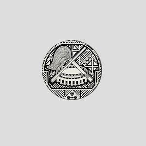 American Samoa Coat Of Arms Mini Button