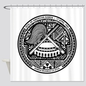American Samoa Coat Of Arms Shower Curtain