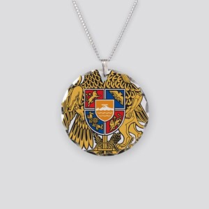 Armenia Coat Of Arms Necklace Circle Charm