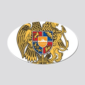 Armenia Coat Of Arms 20x12 Oval Wall Decal