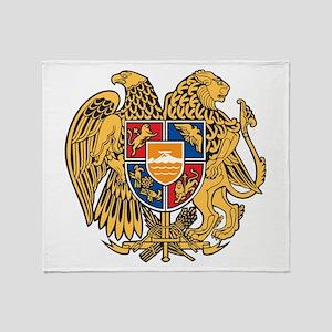 Armenia Coat Of Arms Throw Blanket
