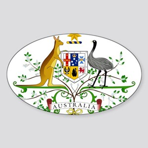Australia Coat Of Arms Sticker (Oval)