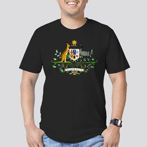 Australia Coat Of Arms Men's Fitted T-Shirt (dark)