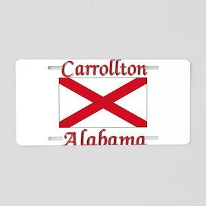 Carrollton Alabama Aluminum License Plate