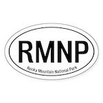 RMNP - Rocky Mountain National Park Oval Sticker
