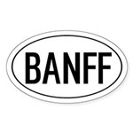 BANFF Oval Sticker