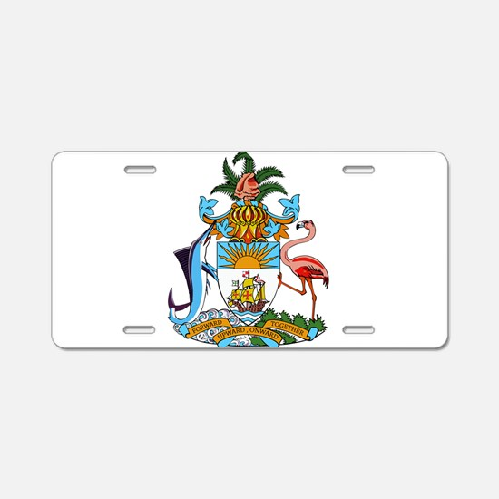 Bahamas Coat Of Arms Aluminum License Plate