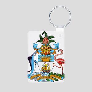 Bahamas Coat Of Arms Aluminum Photo Keychain