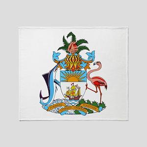 Bahamas Coat Of Arms Throw Blanket