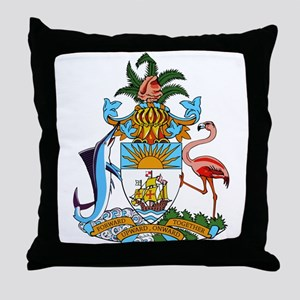 Bahamas Coat Of Arms Throw Pillow